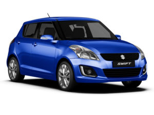 photo of a blue Suzuki Swift 5 door hatchback